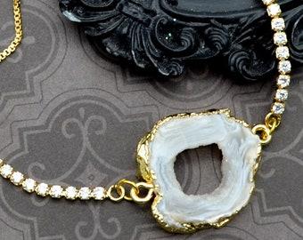 Geode Glitz - Adjustable Tennis Bracelet