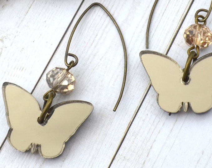 BRONZE BUTTERFLY DANGLES Earrings