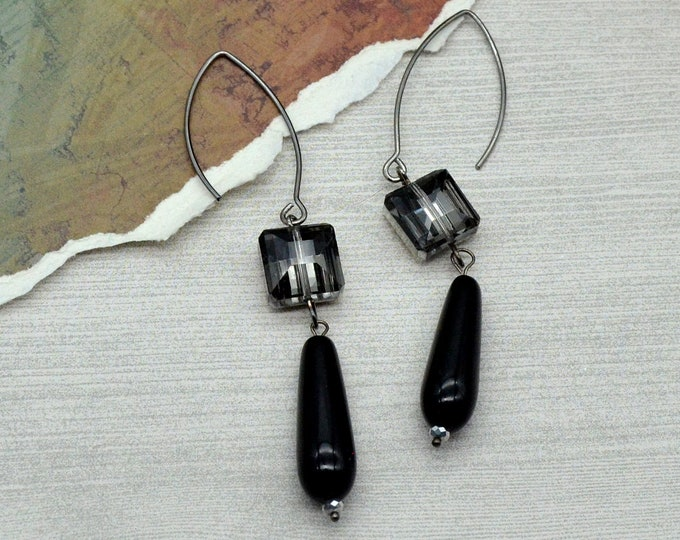 Noir Couture - Dangle Earrings