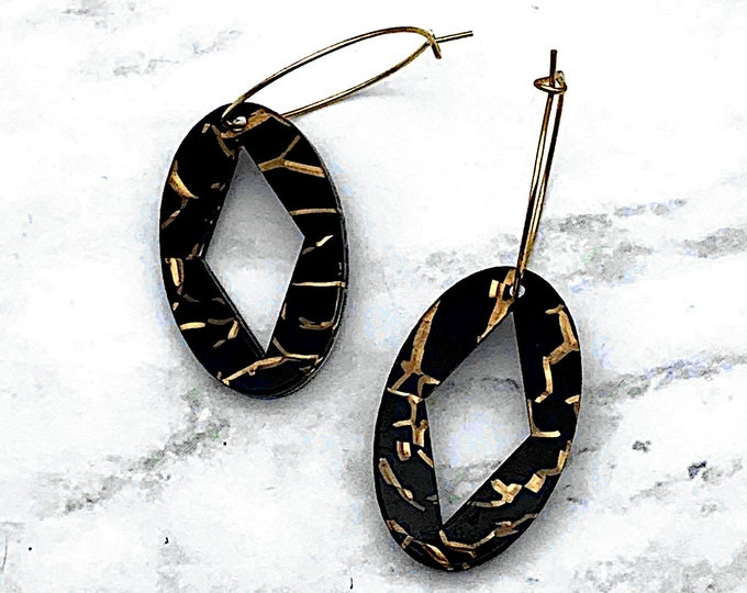 Exotic Jungle Babe Hoop Earrings - Laser Cut Acrylic