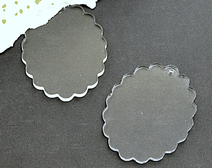 Clear Cameos - 30x40 mm Frame Settings - Clear Laser Cut Acrylic