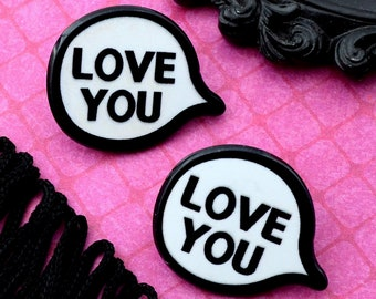 ILY - I Love You - Conversation Stud Earrings