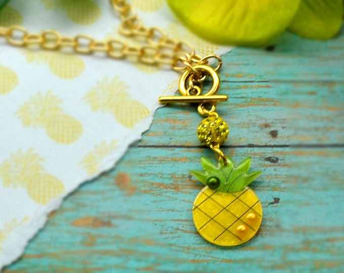 Pineapple Bling - Necklace