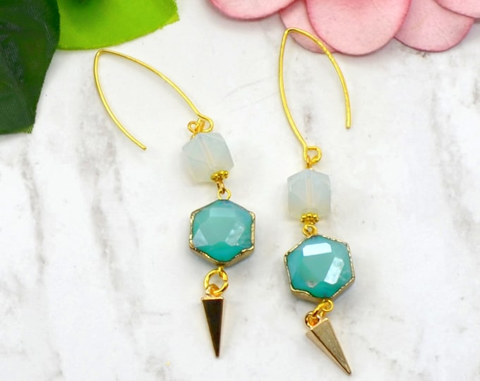 Teal Beauty Earrings