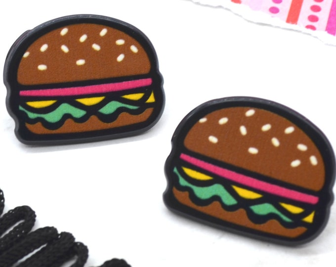 CHEESEBURGER Stud Earrings