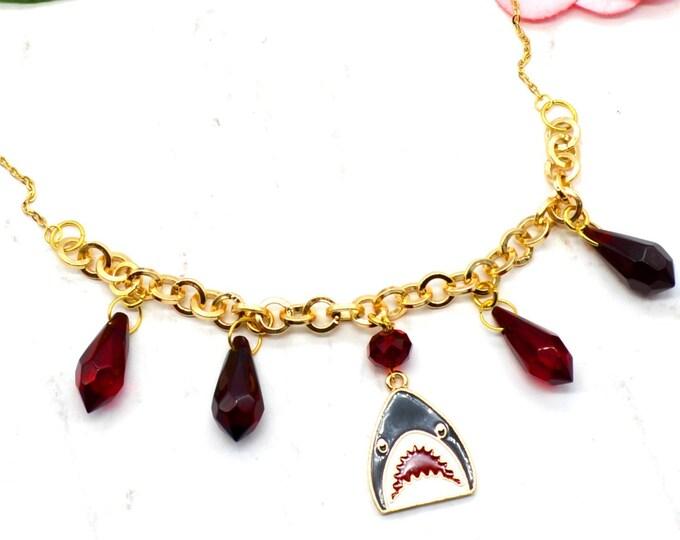 Shark Week - Gold Shark Charm Necklace