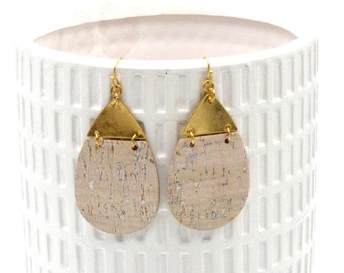 Contemporary Cork Dangle Earrings
