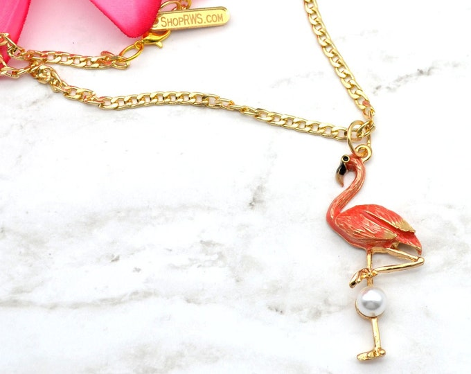 Fancy Flamingo - Charm Necklace