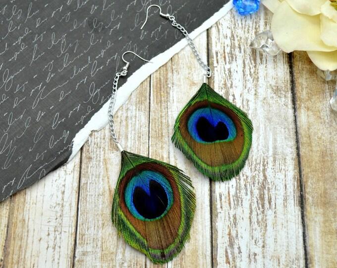 Elegant Peacock Earrings