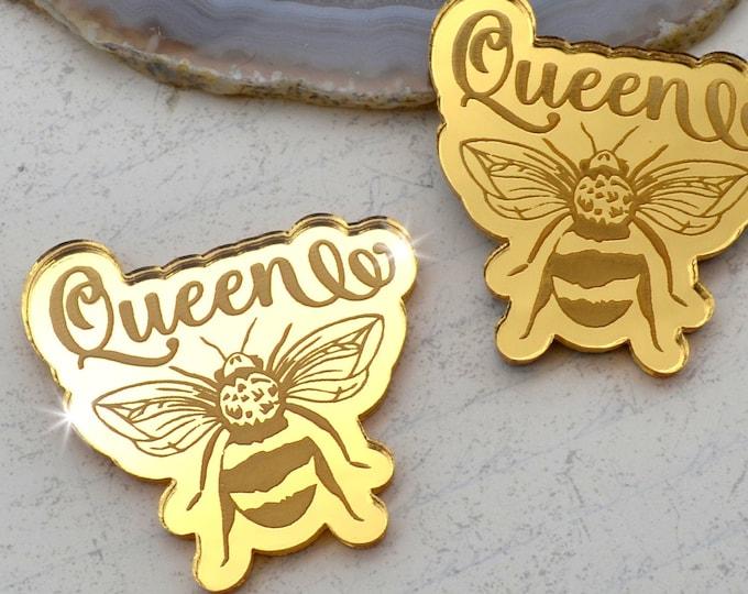 QUEEN BEE CABS - Gold Mirror Laser Cut Acrylic - Set of 2
