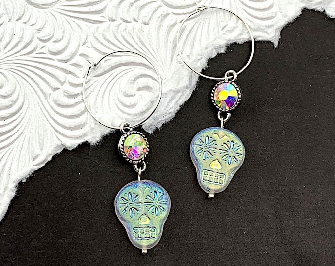 Starlight Skulls Charm Earrings