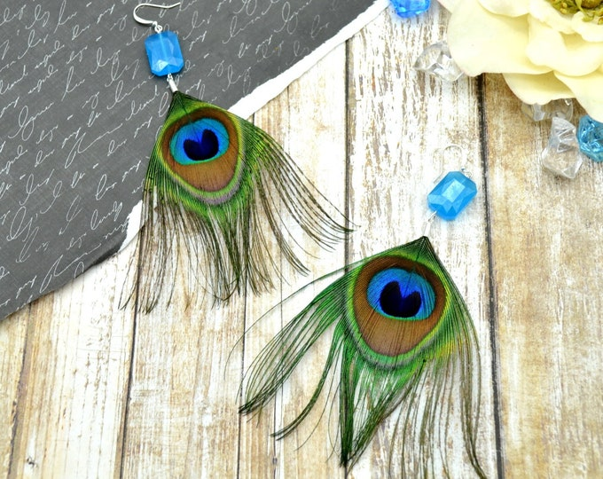 True Colors Peacock Earrings