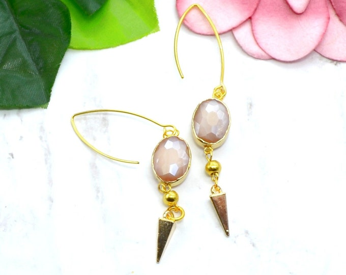 Sparkling Blush Beauty Earrings