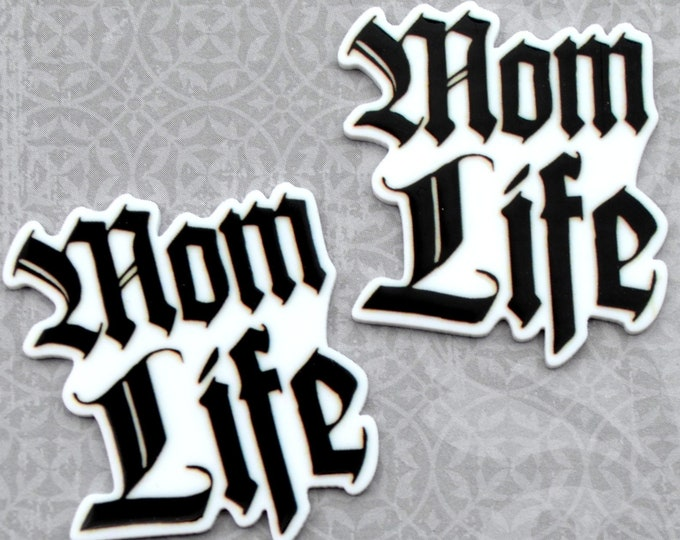 MOM LIFE-Word cabochon in UV print Laser Cut Acrylic