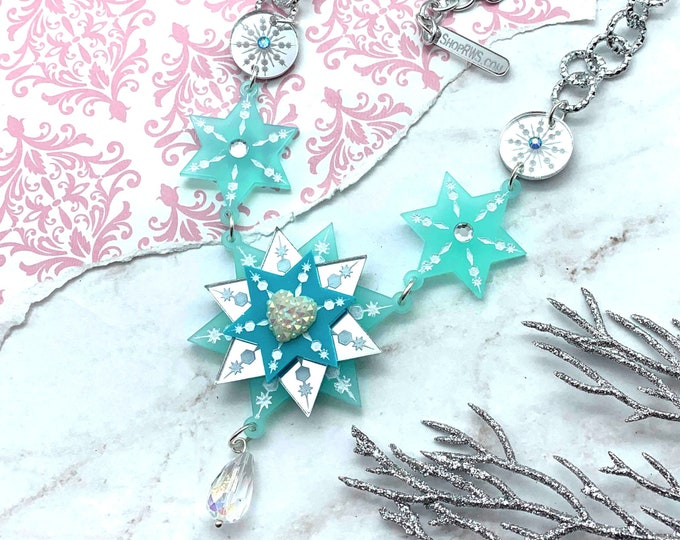 Snowflake Sweetheart Necklace