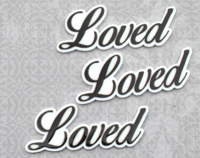 LOVED-Word cabochon in UV print Laser Cut Acrylic