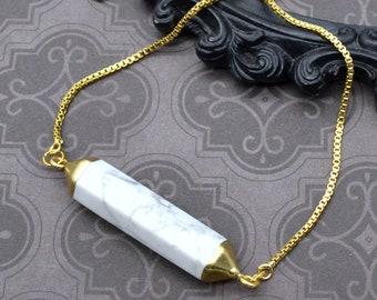 Marble Chic - Adjustable Tennis Bracelet