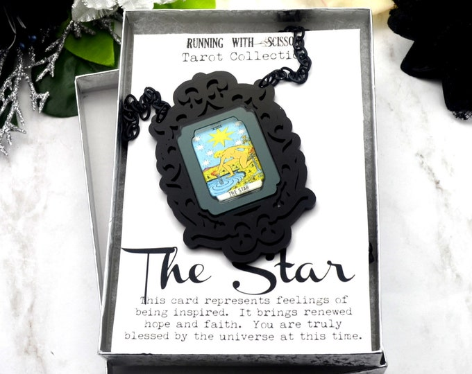 THE STAR - Tarot Collection - Laser Cut Acrylic -  Necklace