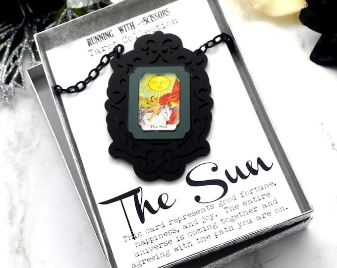 THE SUN - Tarot Collection - Laser Cut Acrylic -  Necklace