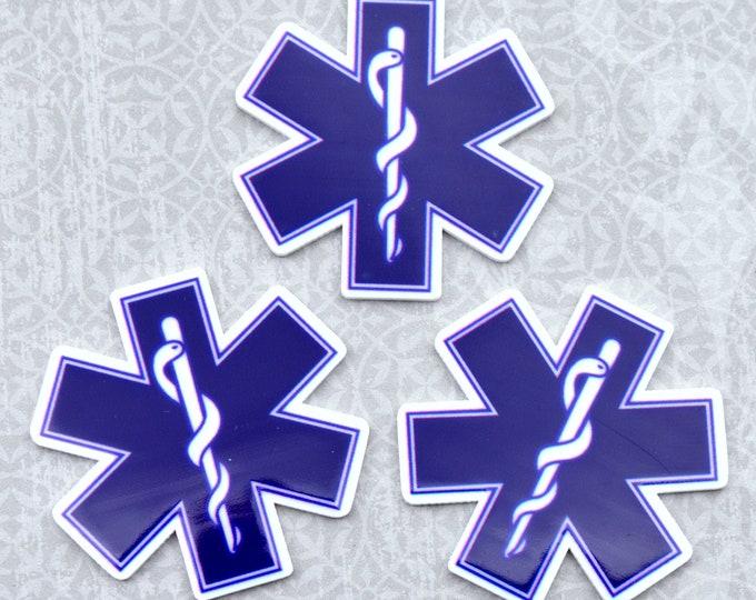 BLUE EMT -Word cabochon in UV print Laser Cut Acrylic
