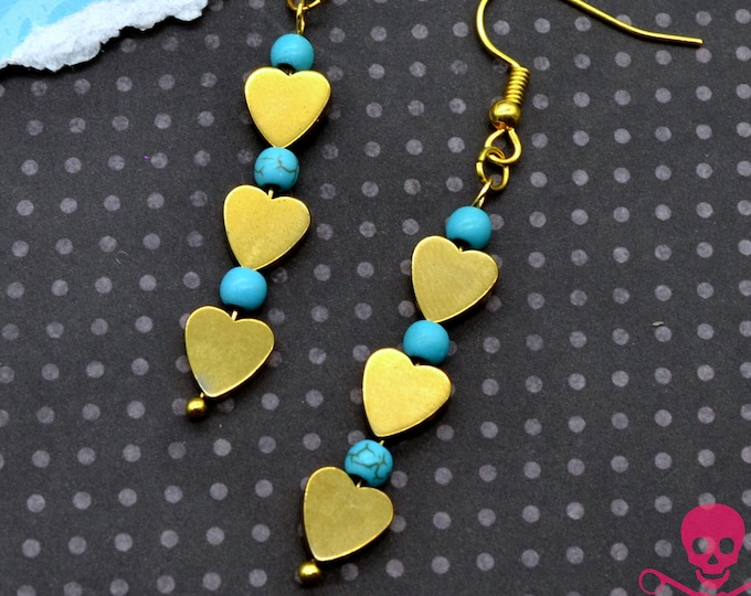 HEART OF GOLD - Dangle Earrings