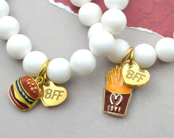 Burger and Fries Bracelet Set - 2 pack