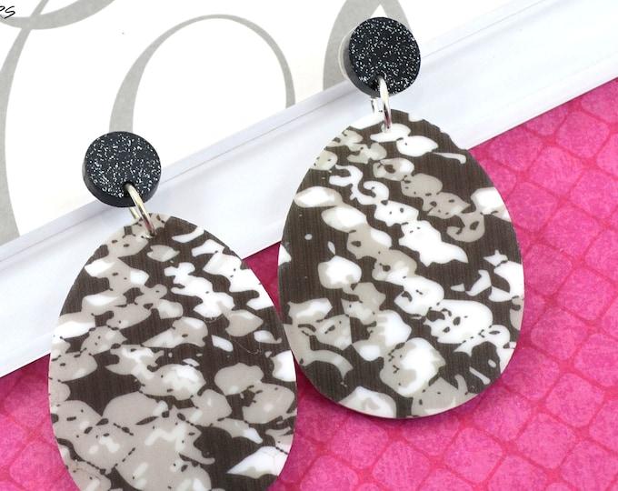Snakeskin Drop Dangles - Laser Cut Acrylic Earrings