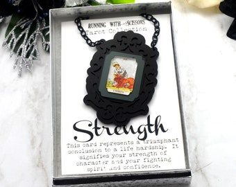 STRENGTH - Tarot Collection - Laser Cut Acrylic -  Necklace