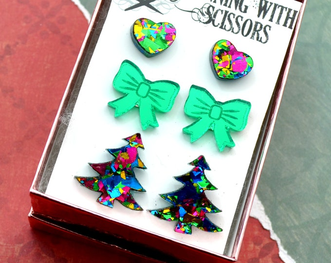 Home for the Holidays Stud Earring Set - 3 Pack