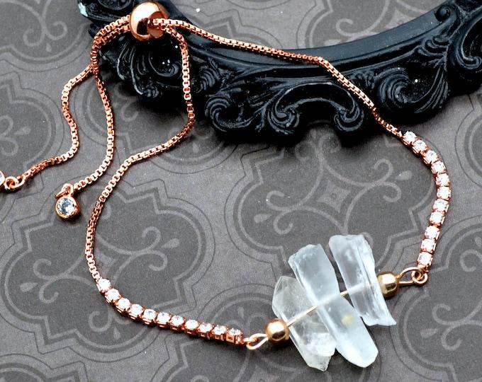 Quartz Trio - Adjustable Tennis Bracelet