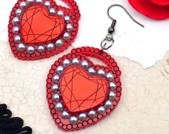 LOVE LOCKED - Laser Cut Acrylic Earrings