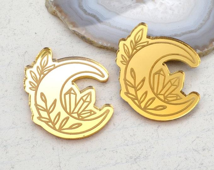 CRYSTAL MOON CABS - Gold Mirror Laser Cut Acrylic - Set of 2