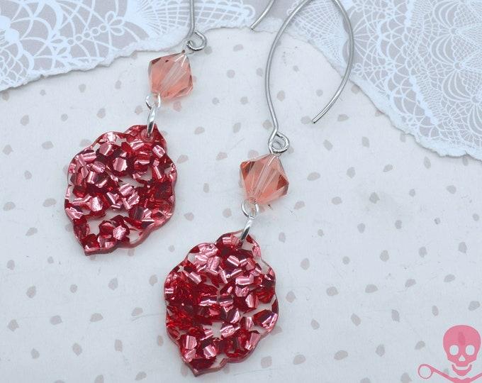 ROSE CONFETTI DANGLES - Dangle Earrings