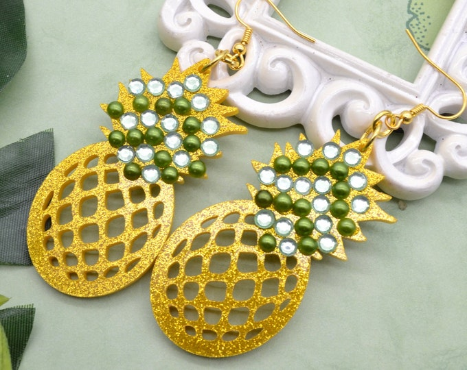 PINEAPPLE BLING Dangle Earrings