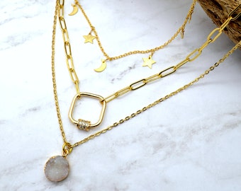 Lavish Layers - 3 Piece Layering Necklace