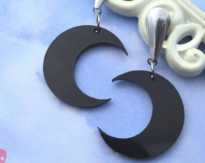 Moondust Laser Cut Acrylic Post Dangle Earrings