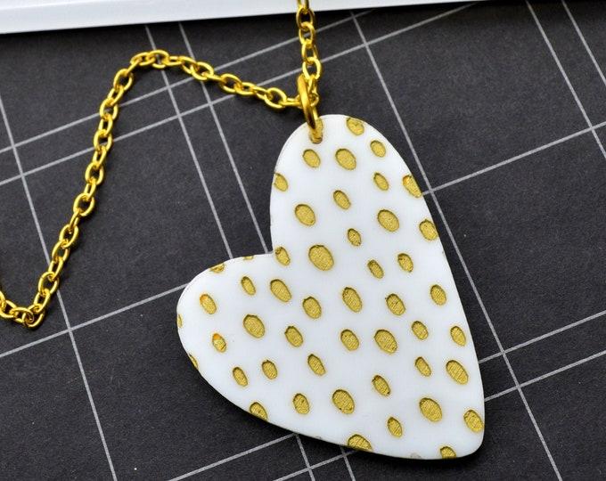 Wild Heart Acrylic Statement Necklace