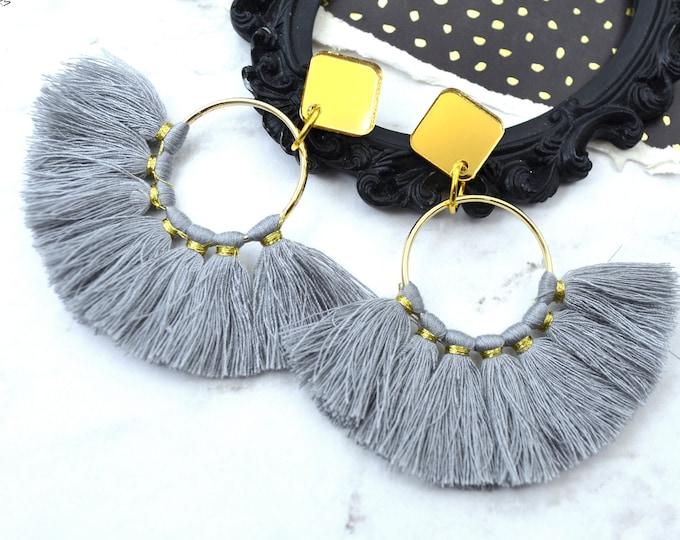 Fanfare Tassel Post Dangle Earrings