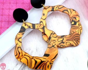 Big Flirt Tiger Dangles - Laser Cut Acrylic Earrings