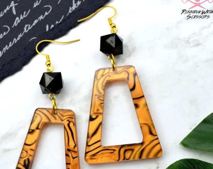 Tigress Dangle - Laser Cut Acrylic Earrings