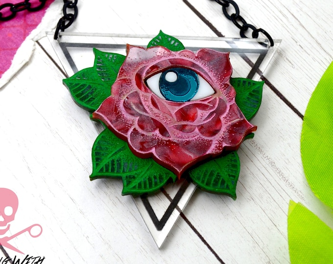 Eye of the Beholder - Laser Cut Acrylic Necklace