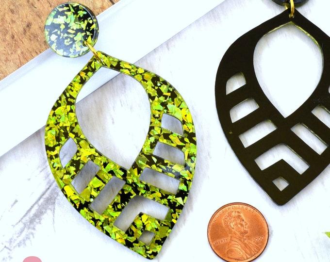 Tropical Dangles - Laser Cut Acrylic Earrings