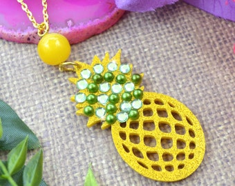 PINEAPPLE BLING Dangle Necklace