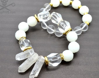 QUARTZ CRYSTALS - Bracelet Stack - 2 pack