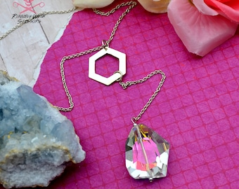 UNICORN CRYSTAL - Faux Lariat Necklace