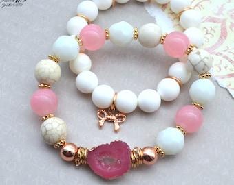 Rose' All Day Druzy Bracelet Stack - 2 pack