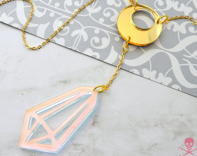 Radiant Prism  - Laser Cut Acrylic Necklace