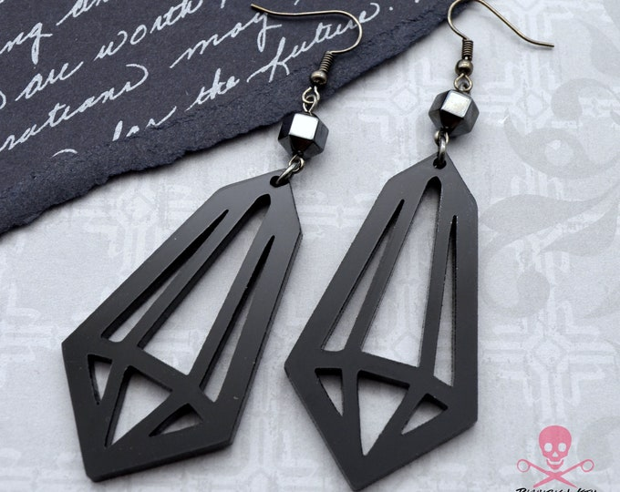 Gothic Prism Dangle - Laser Cut Acrylic Earrings