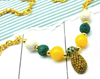 SWEET PINEAPPLE - Couture Peruvian Beaded Necklace