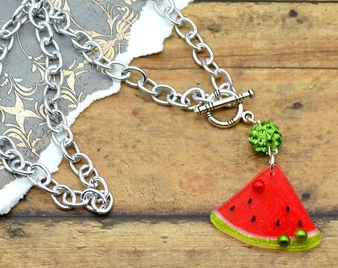 Watermelon Bling - Necklace